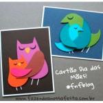 Cartão Dia das Mães - Coruja e Passarinho
