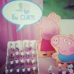 Plaquinhas Festa Peppa Pig da Alice