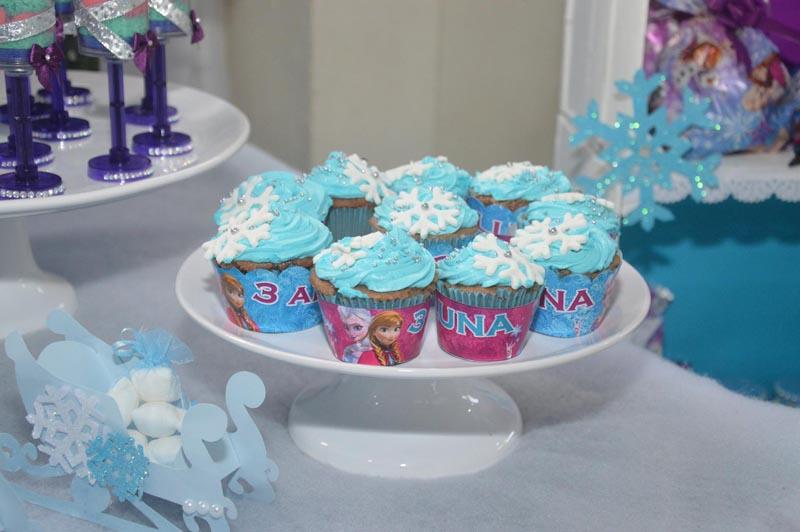 Festa Frozen Criativa - Cupcakes personalizados