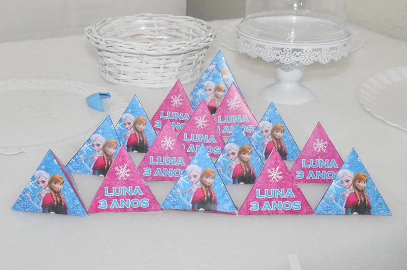 Festa Frozen Criativa - Caixa Pirâmide