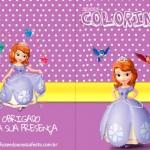 Capa Revista Colorindo Livrinho para Colorir Princesa Sofia de graça
