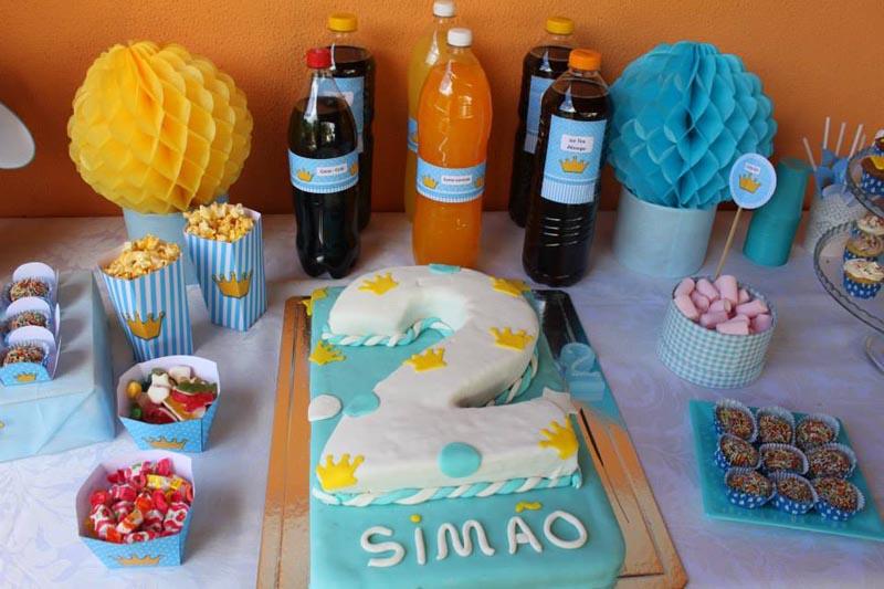 Bolo Festa Coroa de Príncipe do Simão