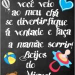 Agradecimento Chá de Bebê Quadro Chalkboard