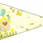 Bandeirinha Sanduiche 4 Jardim Encantado Amarelo Provençal