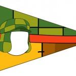 Bandeirinha Sanduiche 7 Chaves