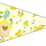Bandeirinha Sanduiche Jardim Encantado Amarelo Provençal