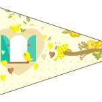 Bandeirinha Sanduiche Jardim Encantado Amarelo Provençal 2