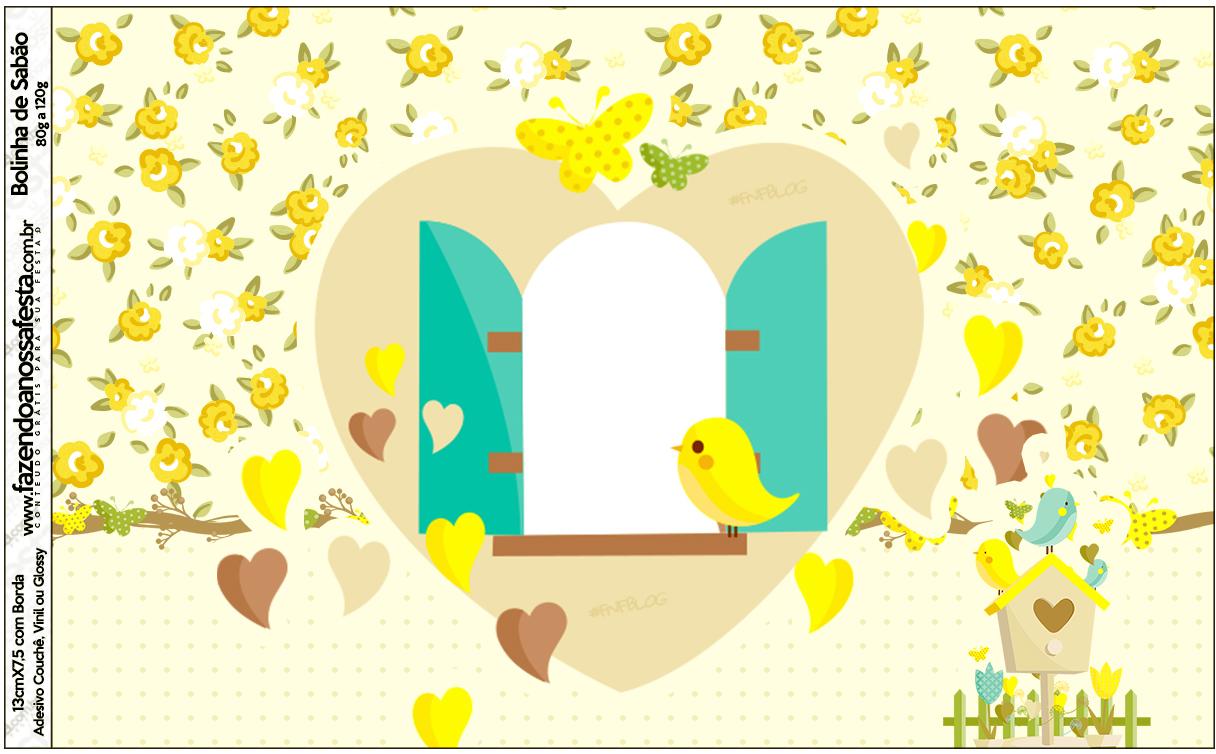 moldura para fotos tema jardim encantado : moldura para fotos tema jardim encantado:Bolinha de Sabão Jardim Encantado Amarelo Provençal – Fazendo a