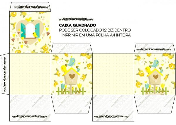 Caixa Bis Jardim Encantado Amarelo Provençal