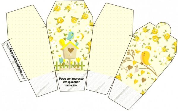 Caixa China in Box Jardim Encantado Amarelo Provençal