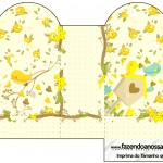 Caixa Coração Jardim Encantado Amarelo Provençal