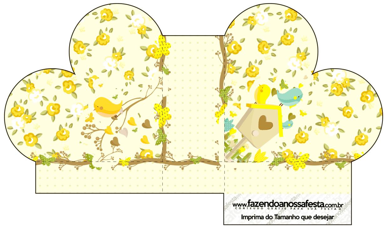 Caixa Coração Jardim Encantado Amarelo Provençal  Fazendo a Nossa