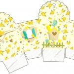 Caixa Cupcake Jardim Encantado Amarelo Provençal