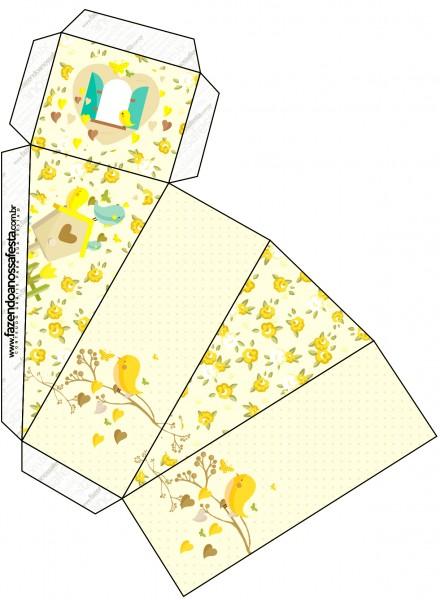 Caixa Fatia Jardim Encantado Amarelo Provençal