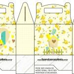 Caixa Lembrancinha Chachepô de Mesa Jardim Encantado Amarelo Provençal