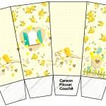 Caixa Pipoca Jardim Encantado Amarelo Provençal