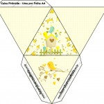 Caixa Pirâmide Jardim Encantado Amarelo Provençal