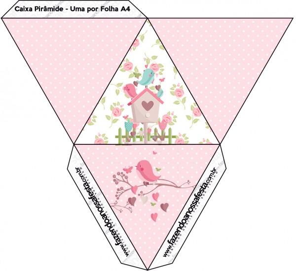 Caixa Pirâmide Jardim Encantado Provençal