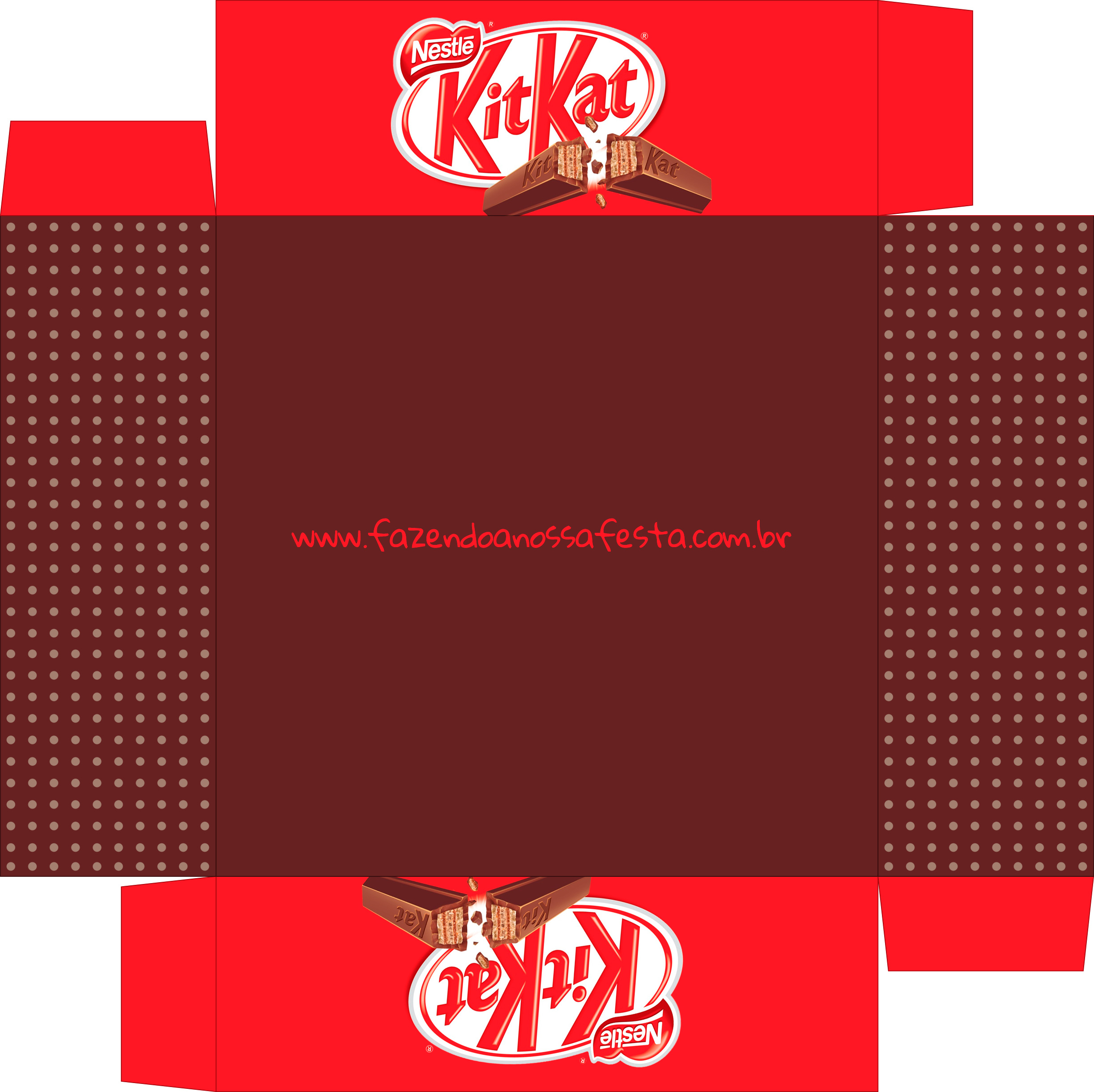 Caixa de Bombom Dia dos Namorados Kit Kat - Parte de baixo