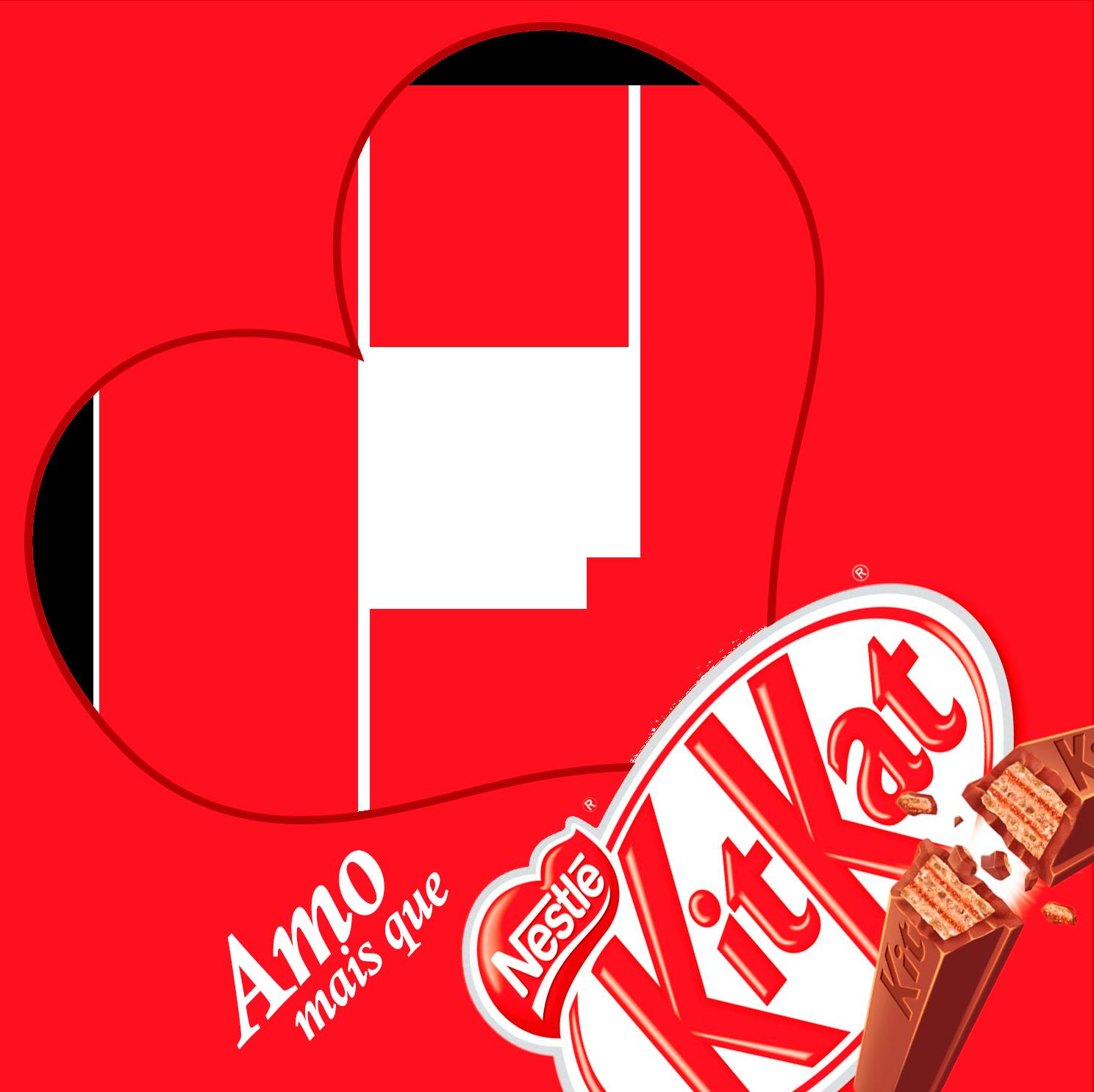 Adesivo para Caixa de Bombom Dia dos Namorados Kit Kat