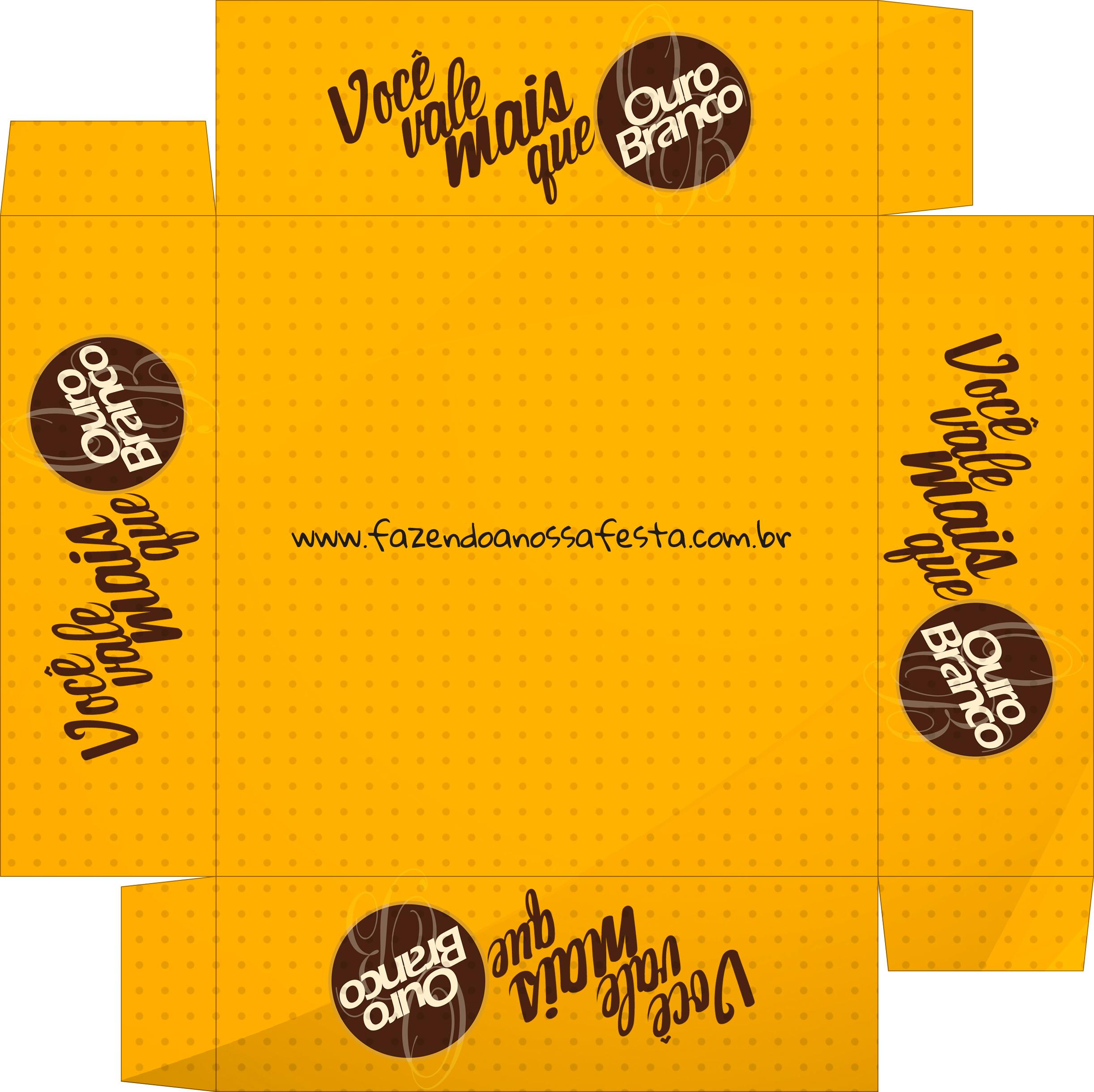 Caixa de Bombom Dia dos Namorados Ouro Branco - Parte de baixo