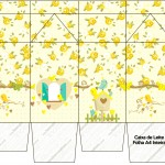 Caixa de Leite Jardim Encantado Amarelo Provençal