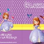 Livrinho para Colorir Princesa Sofia Capa da Revista