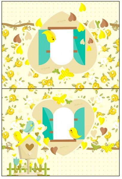Cartão Agradecimento Jardim Encantado Amarelo Provençal