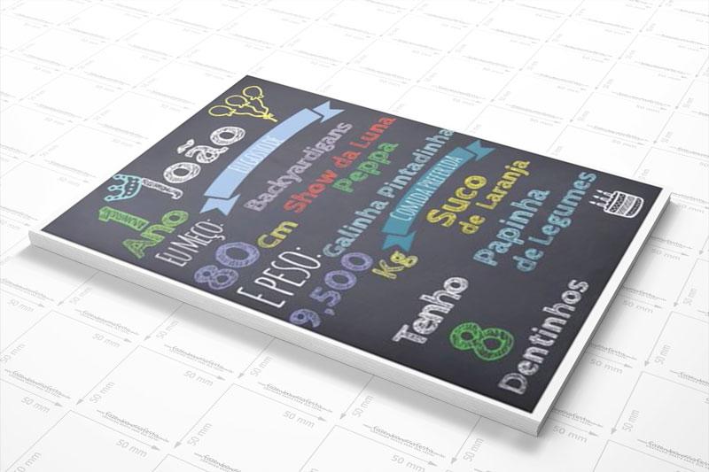 Como fazer Convite Quadro Chalkboard com PicsArt