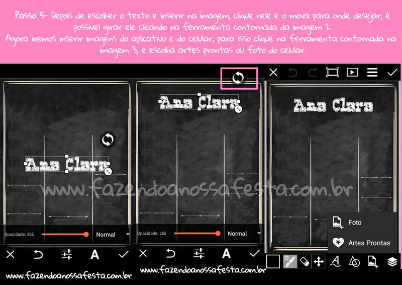 Como fazer convite quadro com PicsArt 3