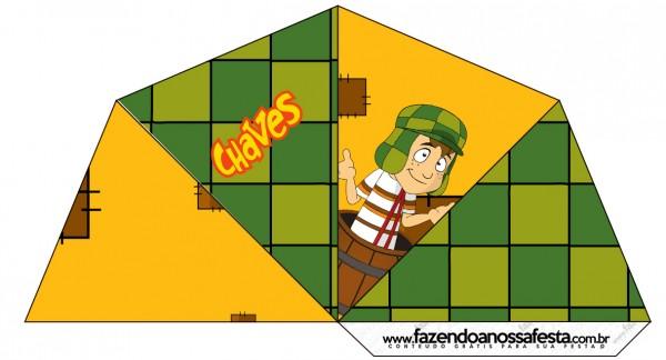 Cone Guloseimas 4 lados Chaves