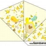Cone Guloseimas 4 lados Jardim Encantado Amarelo Provençal