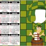 Convite Calendário 2015 Chaves