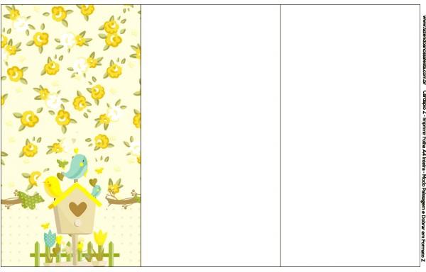 Convite, Cardápio ou Cronograma em Z Jardim Encantado Amarelo Provençal