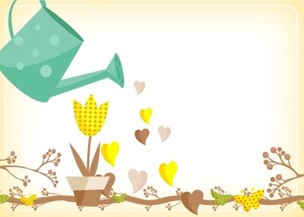 Convite, Cartão Jardim Encantado Amarelo Provençal