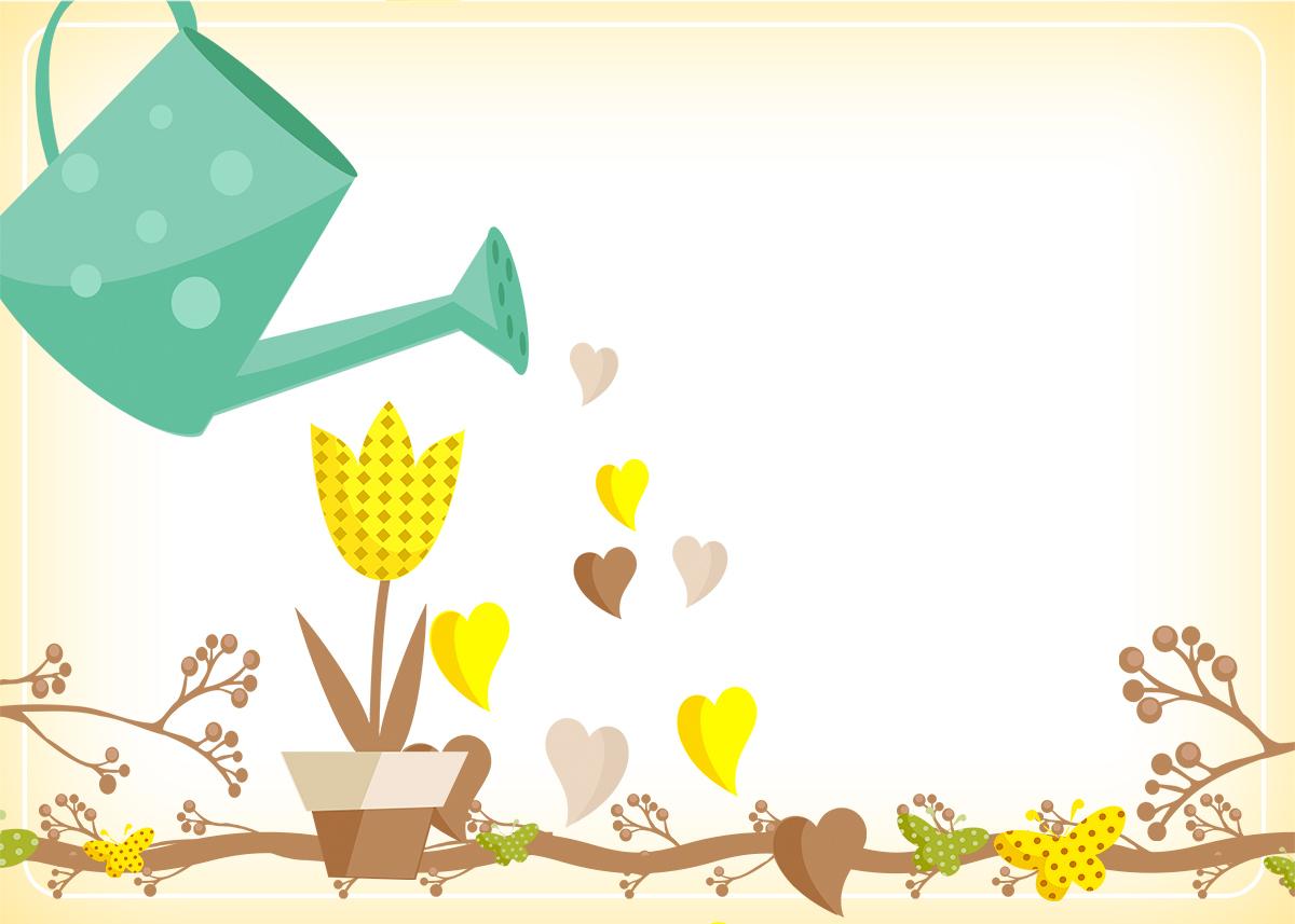 Convite, Cartão Jardim Encantado Amarelo Provençal  Fazendo a Nossa