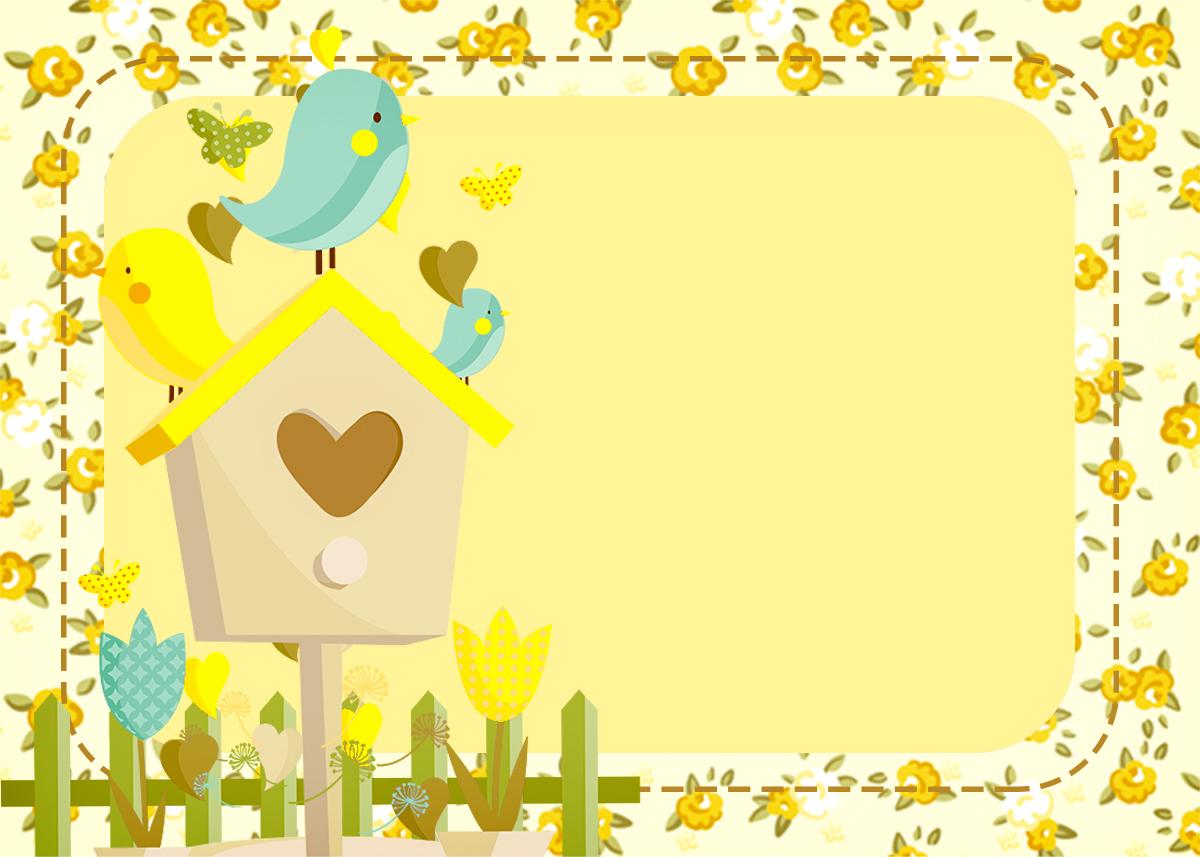 Convite Jardim Encantado Amarelo Provençal 2  Fazendo a Nossa Festa