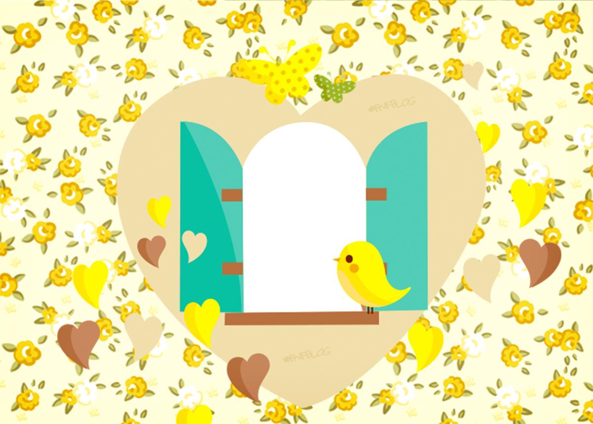 Convite Jardim Encantado Amarelo Provençal  Fazendo a Nossa Festa
