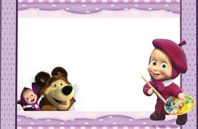 Convite Masha e o Urso