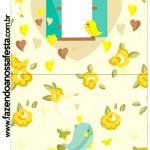 Convite Pirulito Jardim Encantado Amarelo Provençal