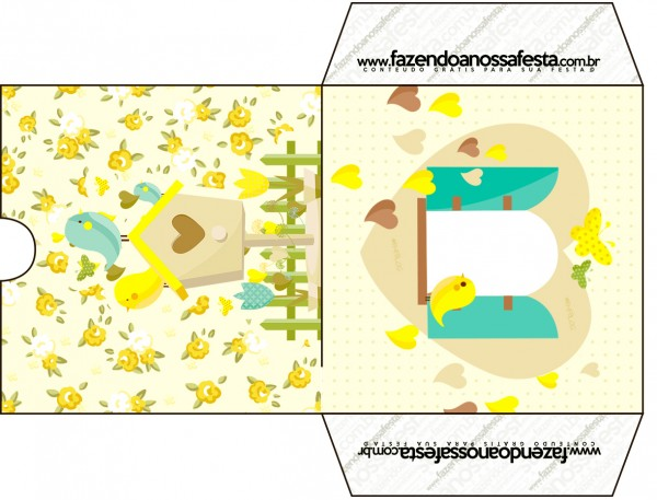 Envelope CD DVD Jardim Encantado Amarelo Provençal