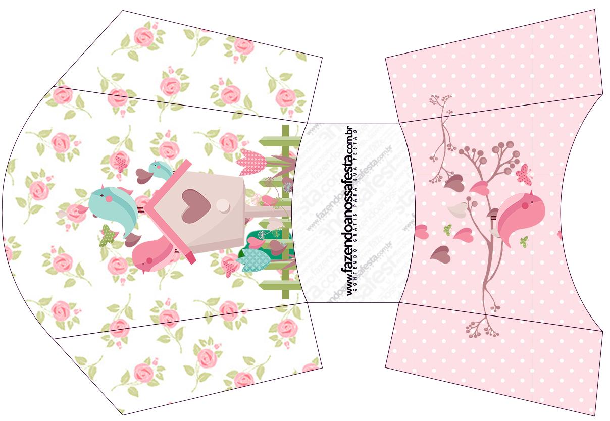 Famosos Envelope Fritas Jardim Encantado Provençal - Fazendo a Nossa Festa FD77