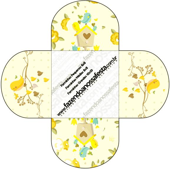 Forminhas Docinhos Redonda Jardim Encantado Amarelo Provençal