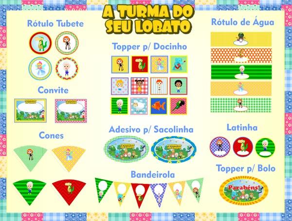 A Turma do Seu Lobato - Kit Festa Infantil