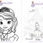 Livrinho para Colorir Princesa Sofia Pagina 1