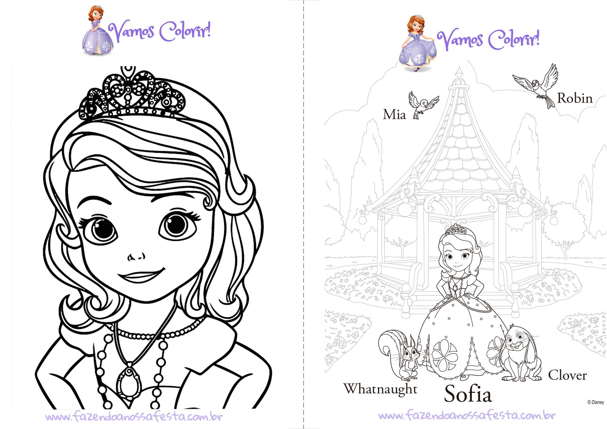 Livrinho para colorir princesa sofia pagina 1 fazendo a for Disegnare la mia planimetria