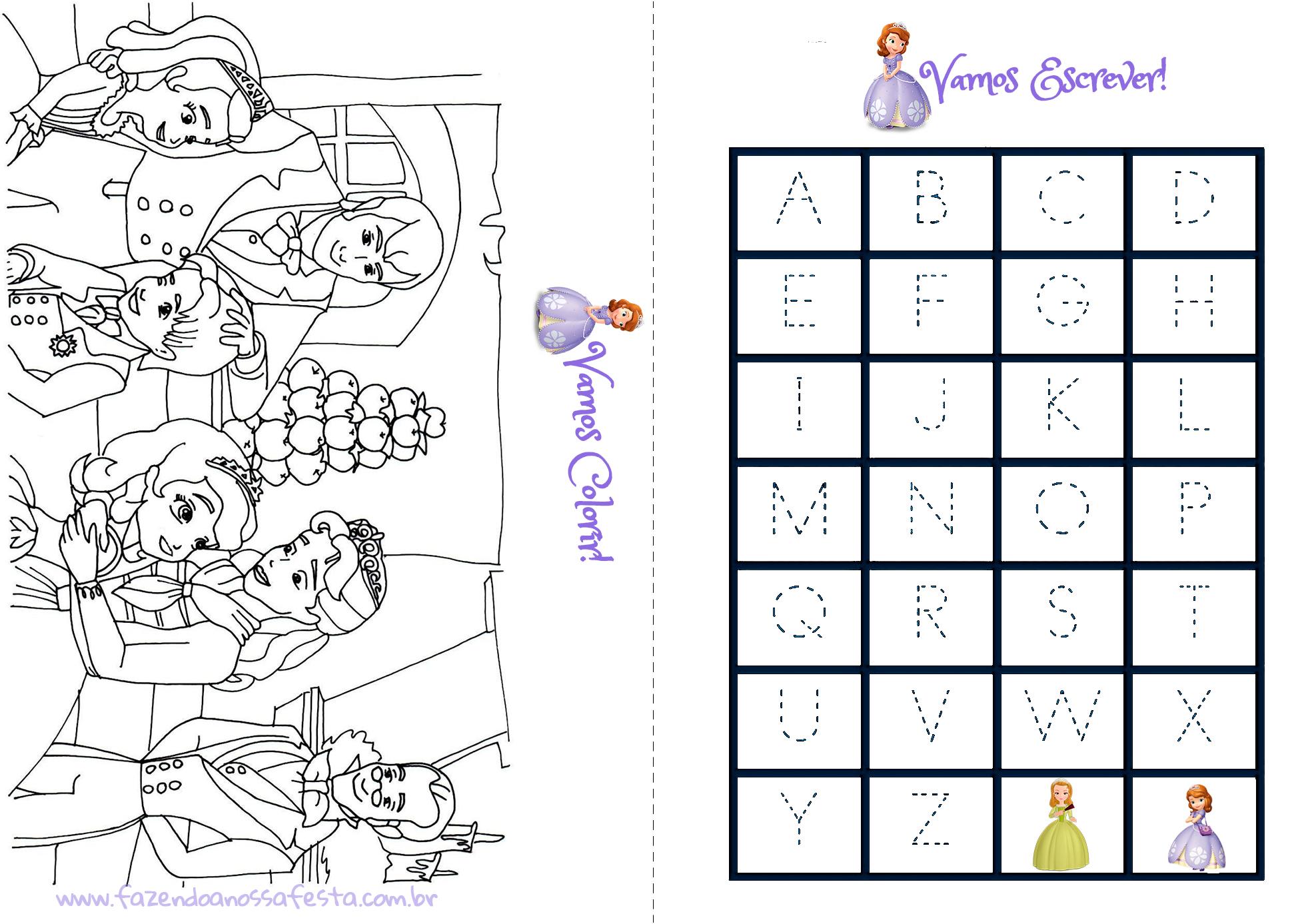 Livrinho Para Colorir Princesa Sofia Pagina 3 Fazendo A Nossa Festa
