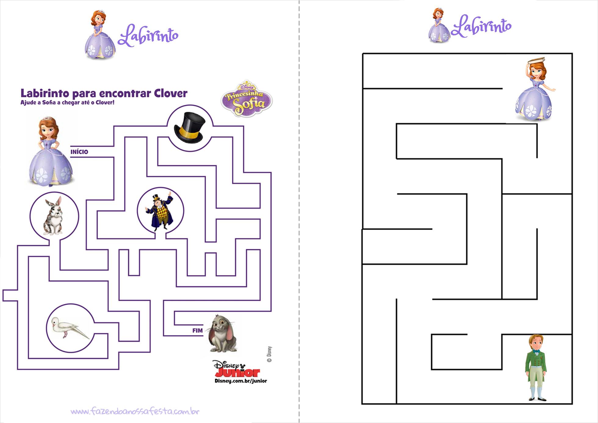 Livrinho Para Colorir Princesa Sofia Pagina 4 Fazendo A Nossa Festa