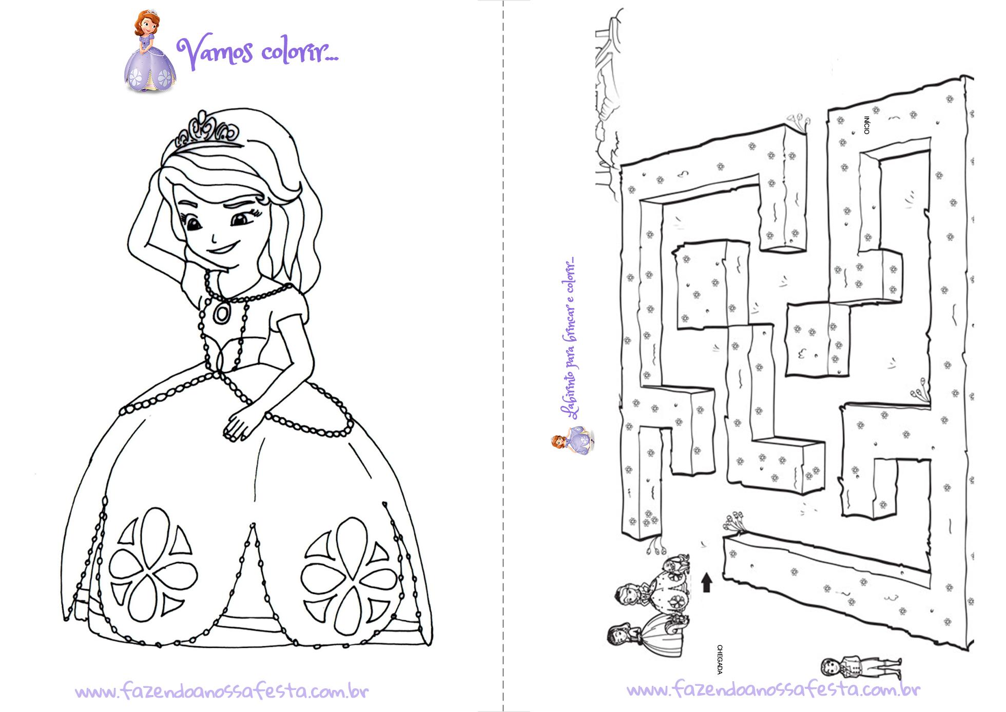 Livrinho Para Colorir Princesa Sofia Pagina-7