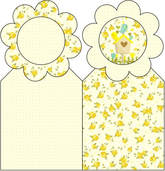 Marcador de Páginas Jardim Encantado Amarelo Provençal